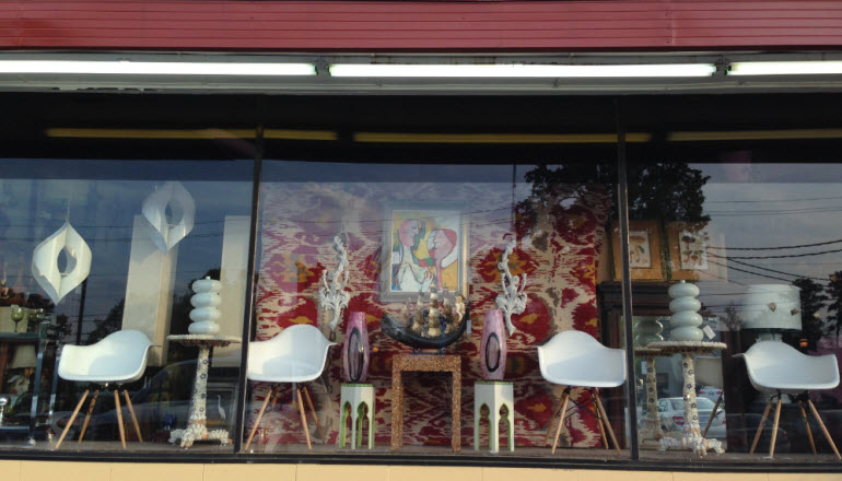 Vintage Window Display at Antiques & Beyond - Best Antiques in the great Atlanta area